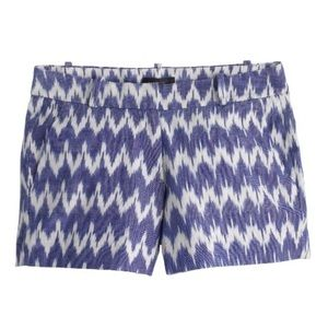 J. Crew Ikat Shorts Blue/White Size 6 worn once!